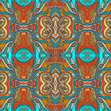 Colorful doodle abstract seamless pattern. Royalty Free Stock Images