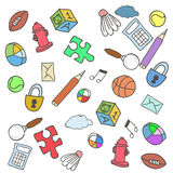 Colorful Doodle Background. Vector Illustration Royalty Free Stock Images