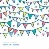 Colorful doodle bunting flags horizontal seamless Royalty Free Stock Image