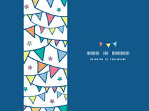 Colorful doodle bunting flags horizontal seamless Royalty Free Stock Photos