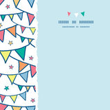 Colorful doodle bunting flags square torn seamless Stock Photo