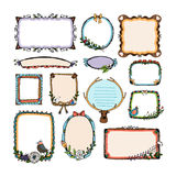 Colorful doodle frames Royalty Free Stock Image