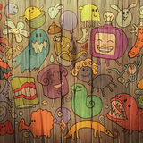 Colorful doodle illustration Royalty Free Stock Photos