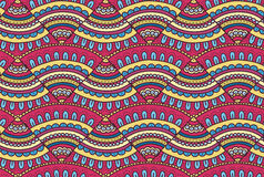 Colorful doodle ornament Background. Bright seamless abstract pizza pattern. Vector illustration Royalty Free Stock Images