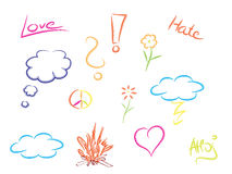 Colorful doodles Royalty Free Stock Photos