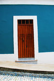Colorful Door. The colorful door is located in San Juan Puerto Rico Royalty Free Stock Photos
