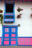 Colorful Door and Balcony Stock Photography
