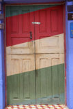 Colorful door Bolivia. A brightly colored door in Samaipata,Bolivia Stock Photo