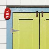 Colorful door detail. Royalty Free Stock Photo