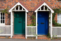 Colorful door. In Beaconsfield, England Royalty Free Stock Image