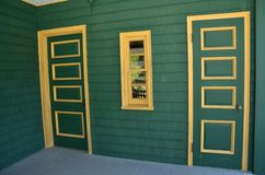 Colorful door. Colorful green doors in an ancient building Royalty Free Stock Photography