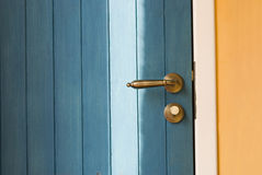 Colorful Door Knob of a wooden door Royalty Free Stock Photo