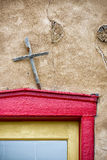 Colorful Door in New Mexico Stock Image