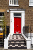 Colorful door in Notting Hill Royalty Free Stock Photography