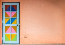 Colorful of door and wall Royalty Free Stock Photo