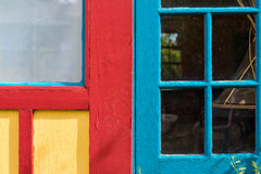 Colorful Door and Window Combination Royalty Free Stock Images