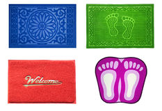 Colorful doormat for house and office. Royalty Free Stock Image