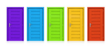 Colorful Doors. Royalty Free Stock Image