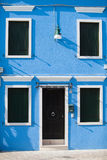 Colorful doors of Burano island Stock Images