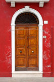 Colorful doors of Burano island, Venice, Italy Royalty Free Stock Photography