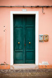 Colorful doors of Burano island, Venice, Italy Stock Photos