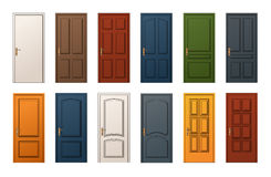 Colorful Doors Collection Stock Photography