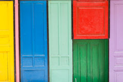 Colorful doors. Colorfully painted doors in Istanbul, Turkey Stock Image