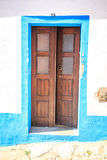 Colorful doors in Portugal Royalty Free Stock Images