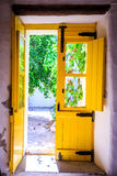 Colorful doors in Portugal Stock Photography