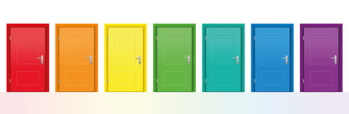 Colorful Doors Stock Photography