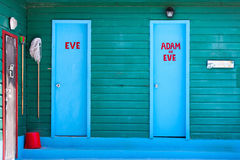 Colorful doors and wall. At Caribbean Royalty Free Stock Images