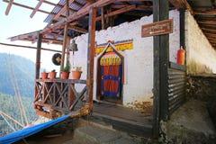 Colorful Doorway, Changri Monastery, Bhutan Royalty Free Stock Photography