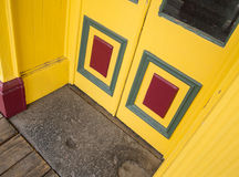 Colorful doorway, Virginia City Stock Images