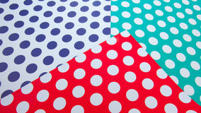 Colorful dot craft paper Royalty Free Stock Images