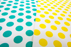 Colorful dot craft paper Stock Photo