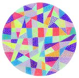 Colorful dot pattern circle. A gel pen hand drawing of a colorful circle with a dot pattern Royalty Free Stock Images