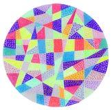 Colorful dot pattern circle. A gel pen hand drawing of a colorful circle with a dot pattern vector illustration