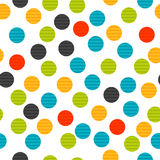 Colorful dot seamless background Royalty Free Stock Photo