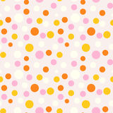 Colorful dot seamless pattern. Royalty Free Stock Photography