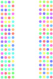Colorful dots abstract background Royalty Free Stock Photography