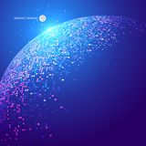 Colorful dots abstract sphere, science and technology vector illustration. Colorful dots abstract sphere, science and technology vector illustration Royalty Free Stock Image