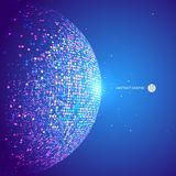 Consisting of colorful little, abstract background. Colorful dots abstract sphere, science and technology vector illustration,Comprehensive interlacing, core Royalty Free Stock Image