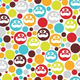 Colorful dots seamless background. Royalty Free Stock Photos
