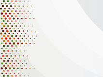 Colorful dots on a white abstract background with place for text. Vector. Illustration Stock Photos
