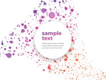 Colorful dotted background with sample text. Modern style Royalty Free Stock Photos