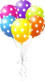 Colorful Dotted Balloons Stock Photo