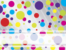 Colorful dotted brochure backdrop Royalty Free Stock Photos