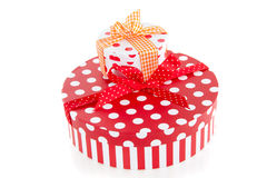 Colorful dotted giftboxes Royalty Free Stock Photography