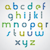 Colorful dotted line bold font, lower case letters. Royalty Free Stock Photography