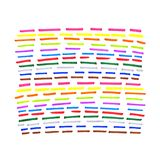 Colorful dotted line pattern. On white background Stock Photos